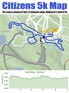Woodford Wonderfest 5k Citizens Race Map