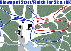 Start & Finish Blowup Map