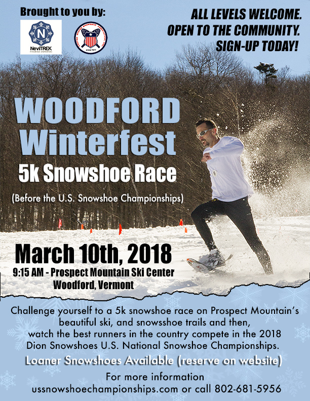 Woodford Winterfest 5k Citizens Snowshoe Race